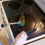 Roasting the pepper